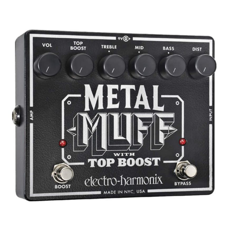 ELECTRO HARMONIX METAL MUFF WITH TOP BOOST -PEDALE DISTORSORE