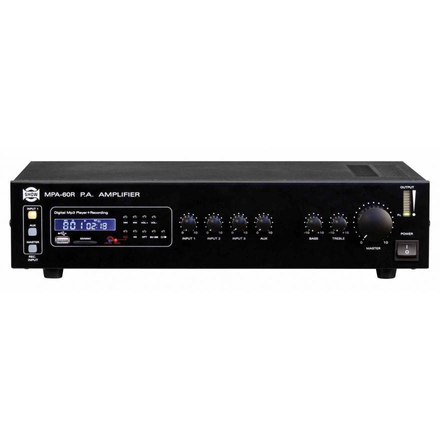 KARMA MPA 60R - Amplificatore PA con Rec/Player
