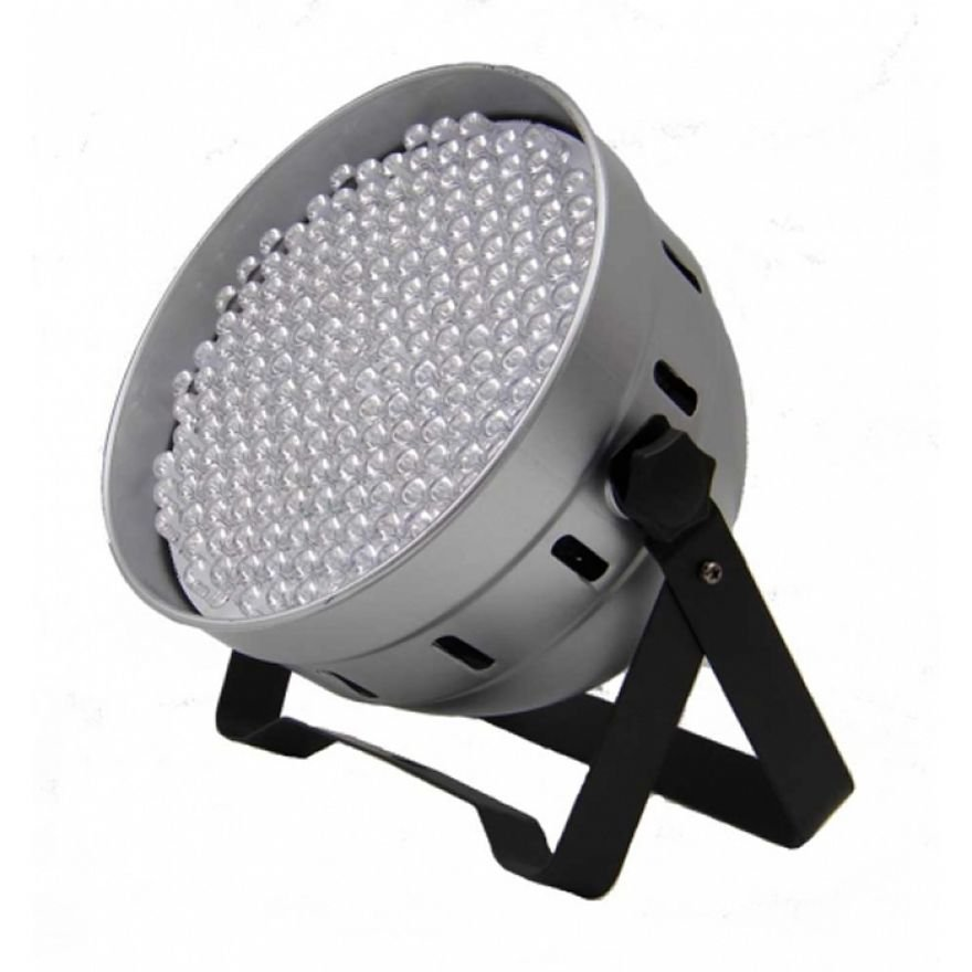FLASH LED PAR 64 186x 10mm RGBW DMX ABS Silver
