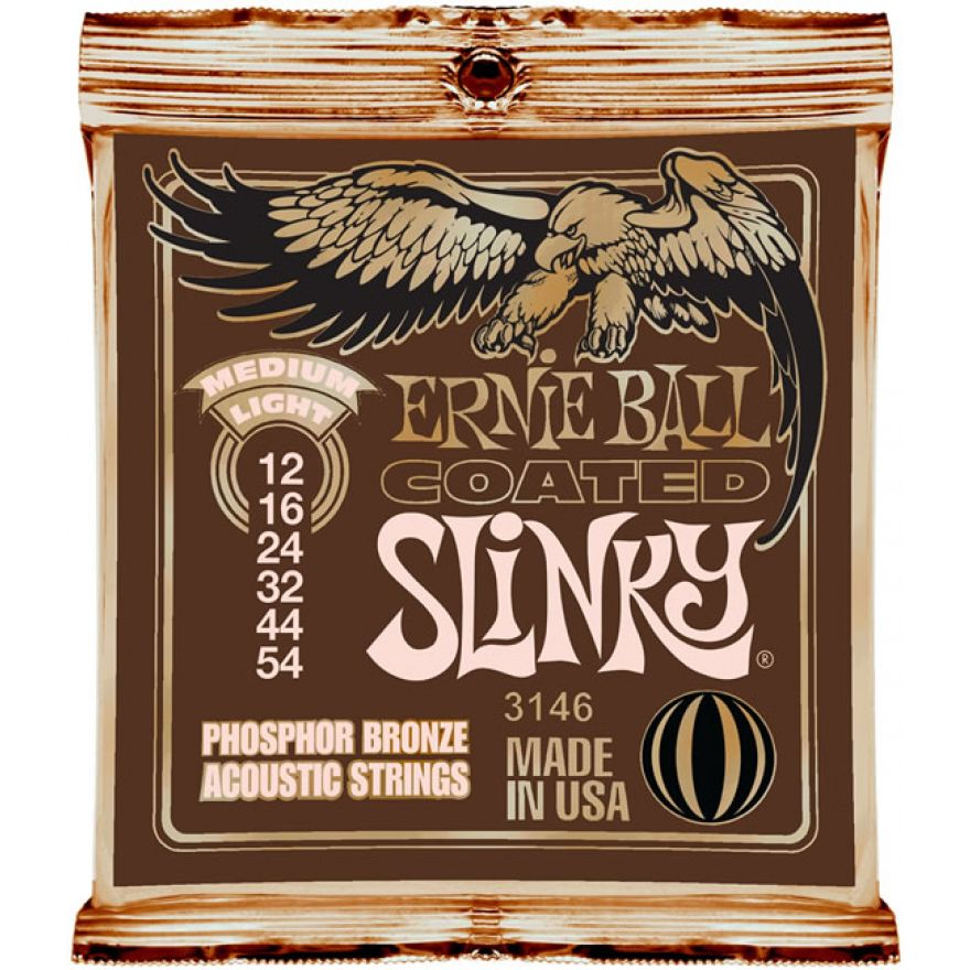 Ernie Ball 3146 Medium Light Coated Slinky - MUTA PER ACUSTICA 12/54