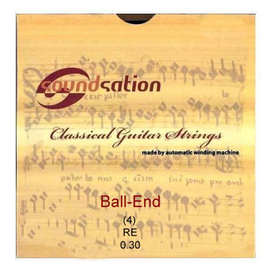 SOUNDSATION SC132BE-4 - Singola per classica RE (4) Ball-End