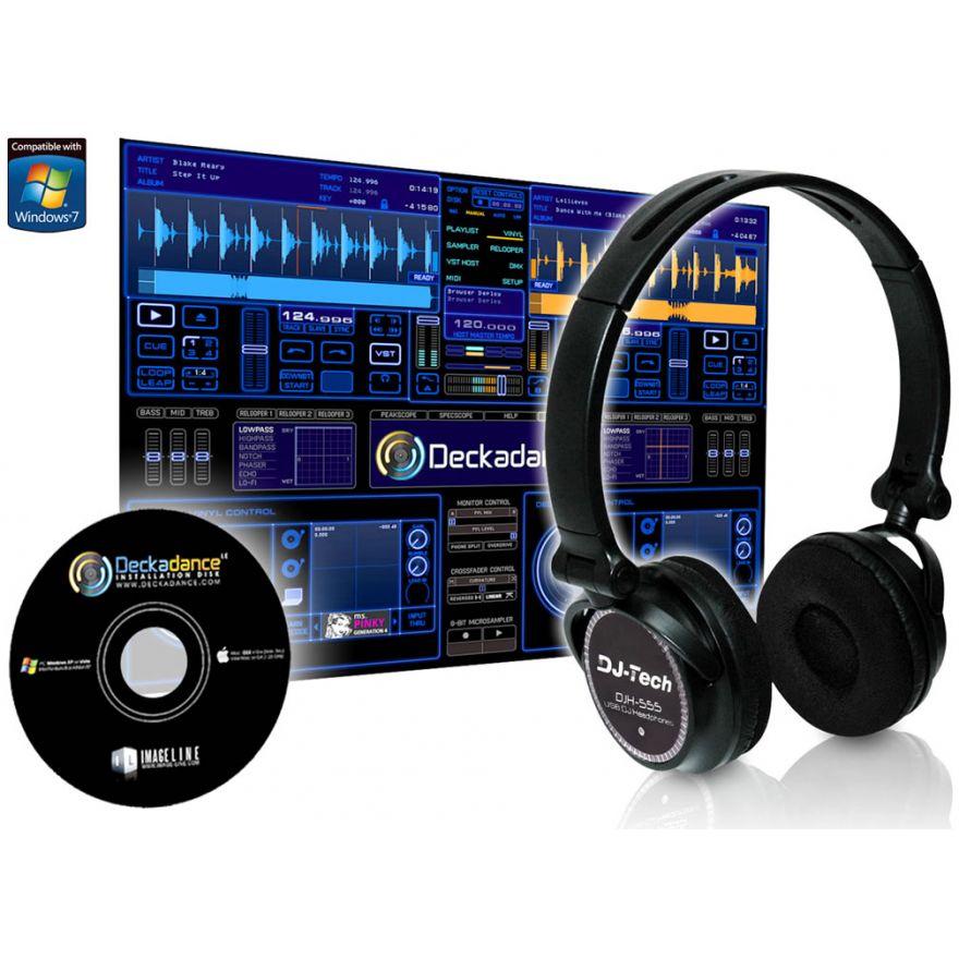 0-DJ TECH DJH555 -CUFFIA US