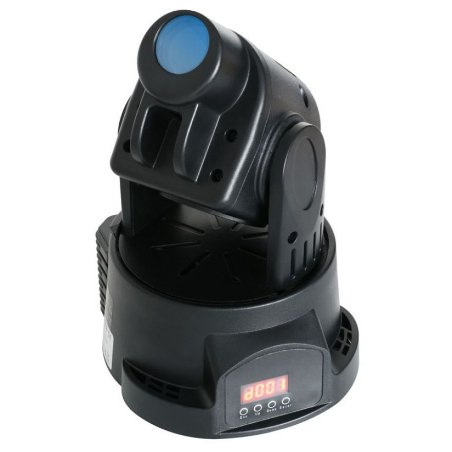 TRONIOS MINI LED MOVING HEAD SPOT Black HOUSING - TESTA MOBILE