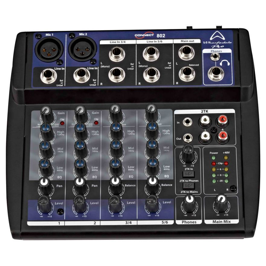 Wharfedale Pro CONNECT 802 - MIXER AUDIO 6 CANALI