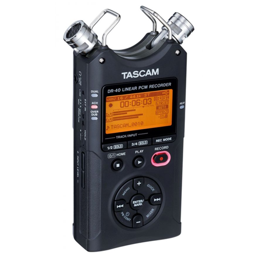 0-TASCAM DR40 V2 + SD 2GB O