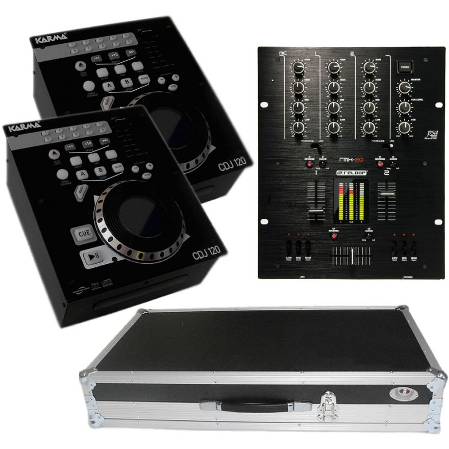 RELOOP Kit 01 Mixer RMX20 + 2 Sound CDJ120 - Flight Case