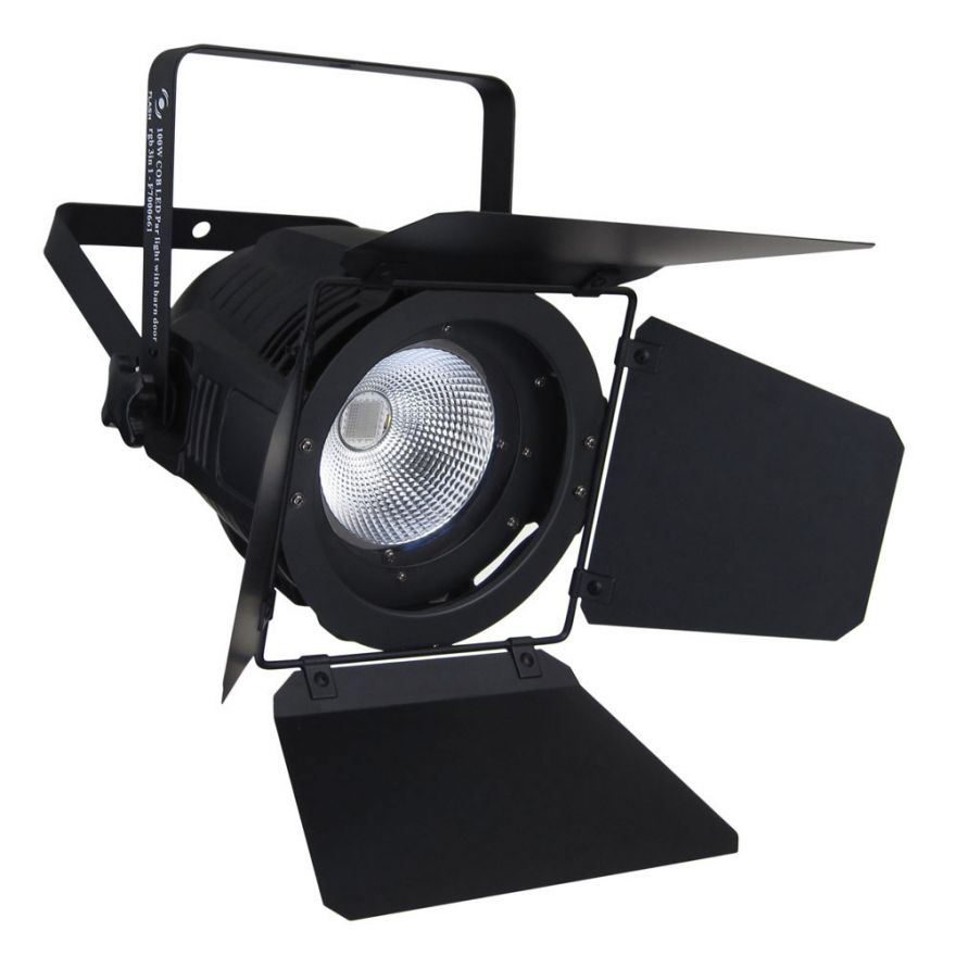 FLASH PAR 64 COB 100W RGB BARNDOOR