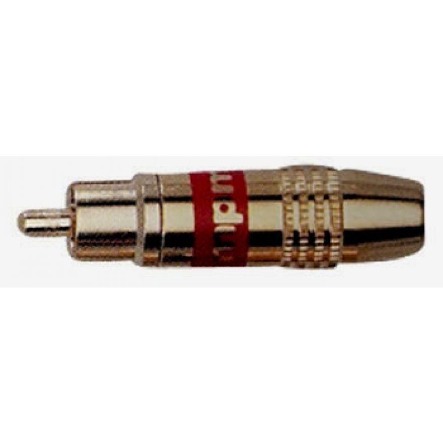 QUIKLOK G148RE - 1 CONNETTORE SPINA RCA DORATO-ROSSO