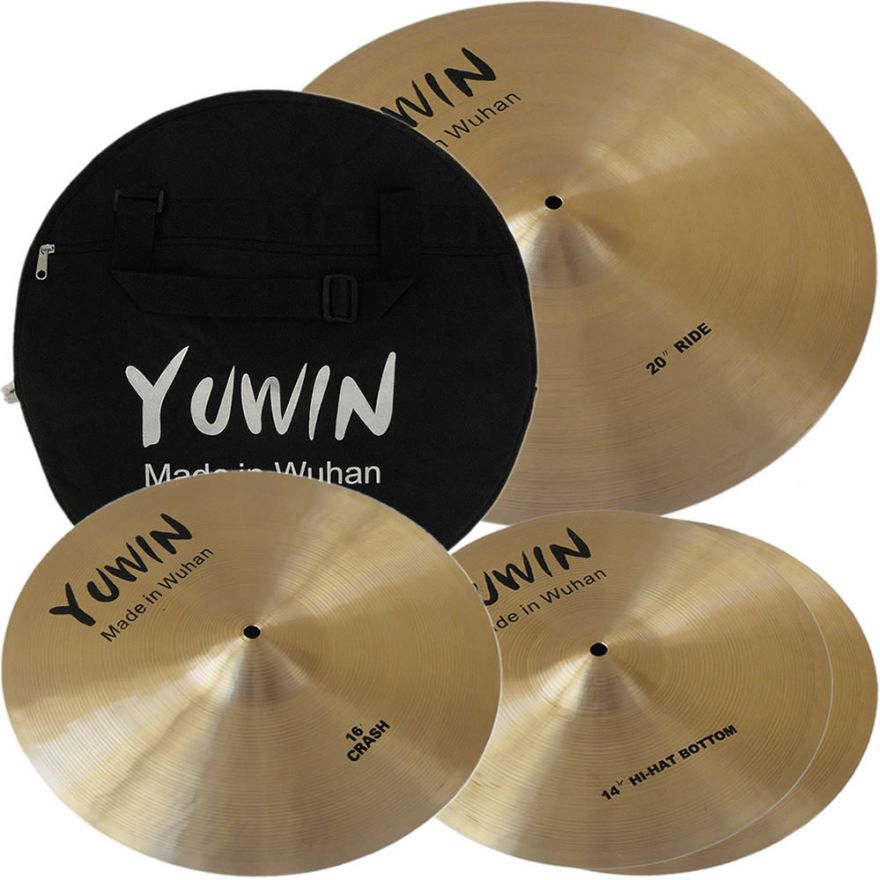 YUWIN YUSET2 - SET PIATTI CON BORSA (RIDE/CRASH/HI-HAT)