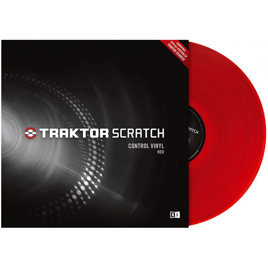 NATIVE INSTRUMENTS TRAKTOR SCRATCH - CONTROL VINYL RED