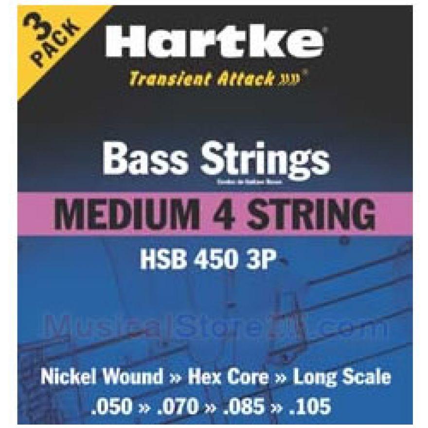 HARTKE MEDIUM 4/3 PACK - CONF. 3 MUTE PER BASSO 4 CORDE (50-105)