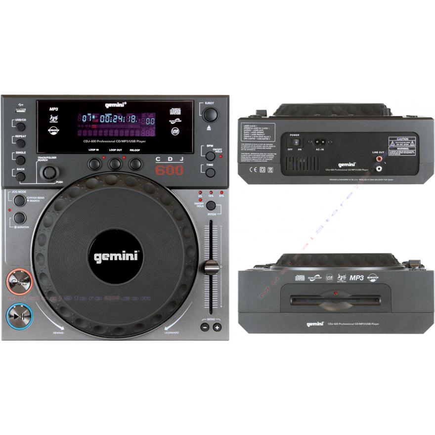 GEMINI CDJ600 - LETTORE CD DA TAVOLO MP3/USB