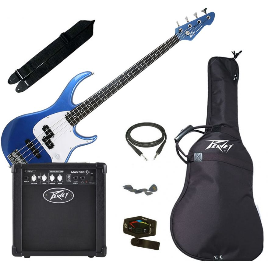 PEAVEY ELECTRIC BASS PACK PLUS GULFCOAST BLUE - KIT BASSO ELETTRICO