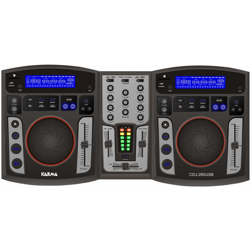 KARMA CDJ 260USB - CONSOLLE DJ CON MP3 E USB