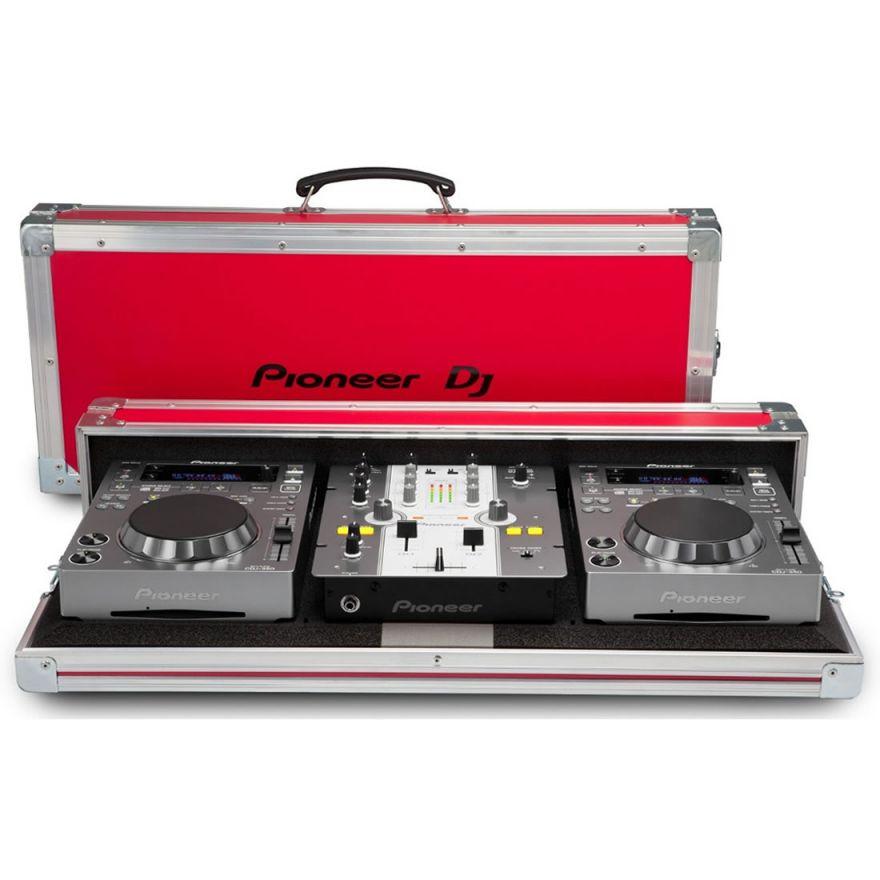 PIONEER 250 PACK Silver - 2 CDJ350S + DJM250W + PRO250FLT