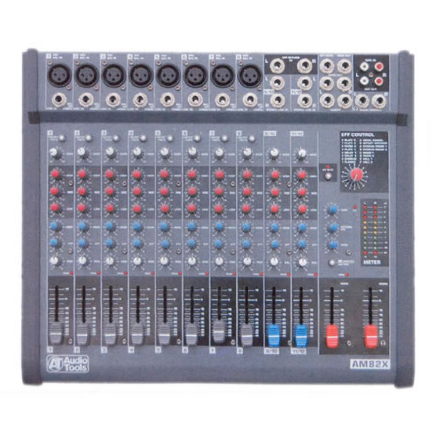 AUDIO TOOLS AM82X - MIXER 8 + 2 INGRESSI CON EFFETTI