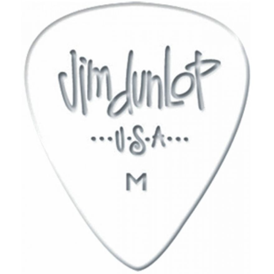Dunlop 483R01MD White Classic Medium 72 Plettri