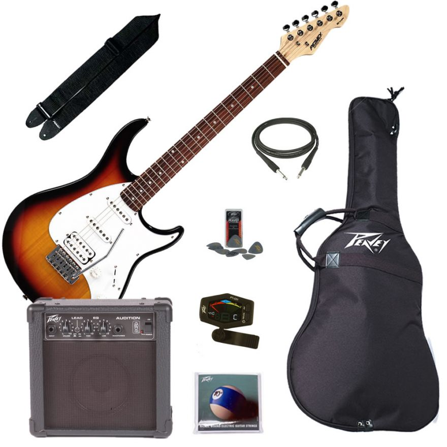PEAVEY ELECTRIC GUITAR PACK PLUS SUNBURST - KIT CHITARRA ELETTRICA