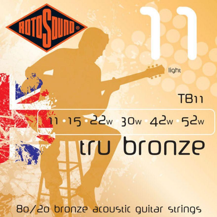 ROTOSOUND TB-11 cordiera per chitarra acustica (0.11/0.52)