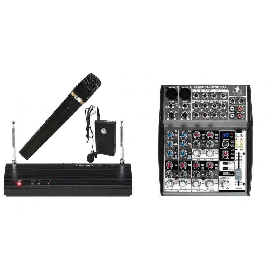BEHRINGER XENYX 1002FX + TMW 102DR KIT Doppio RadioMicrofono a banda V
