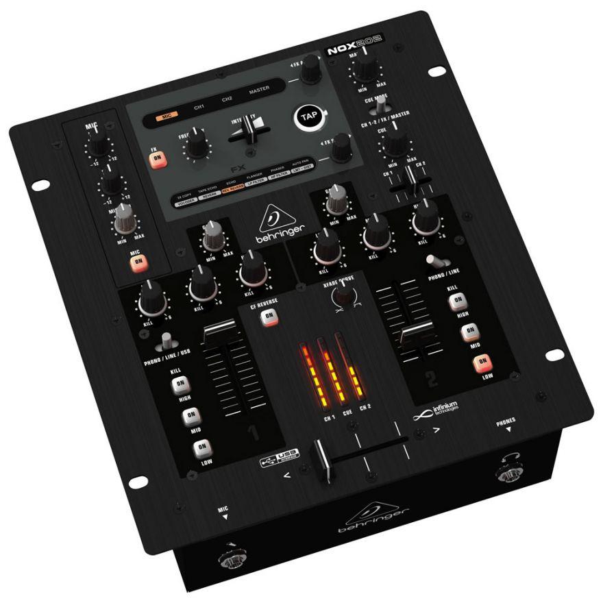 BEHRINGER NOX202 PRO - MIXER PER DJ USB CON CROSSFADER OTTICI
