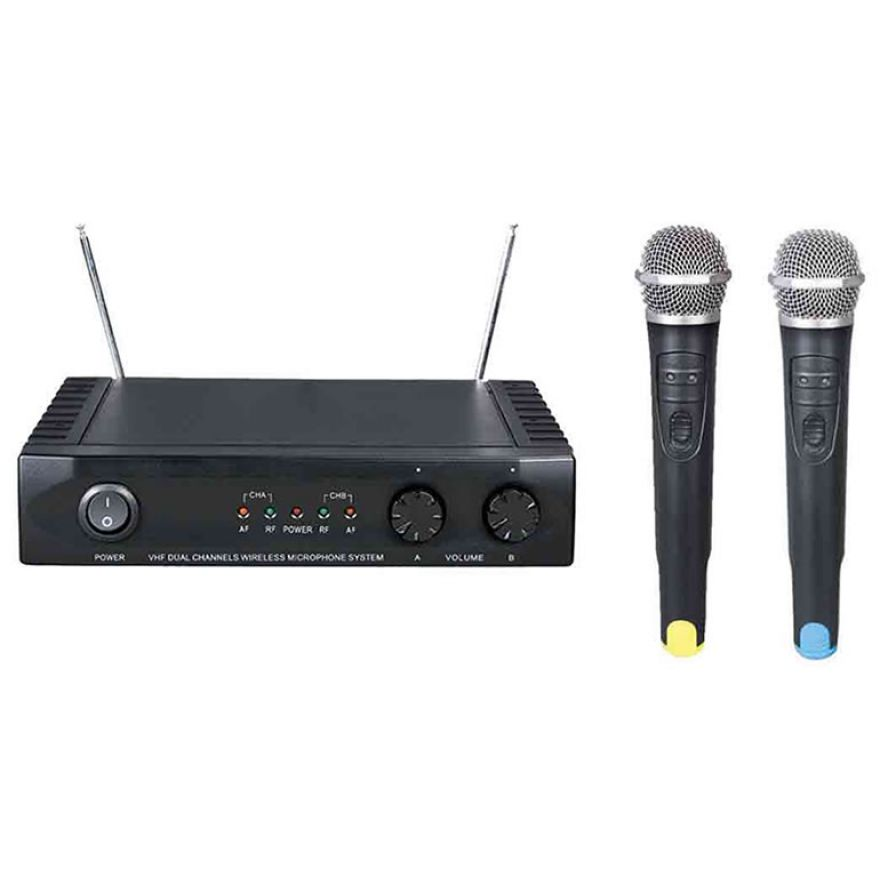 KARMA SET 7022 - DOPPIO RADIOMICROFONO VHF (2 PALMARI)