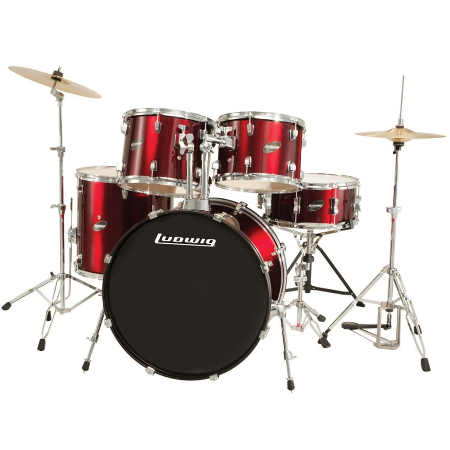 LUDWIG LC1754 ACCENT CS COMBO DRIVER  RED WINE