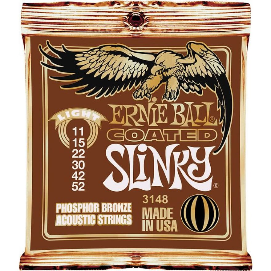 Ernie Ball 3148 Light Coated Slinky - MUTA PER ACUSTICA 11/52