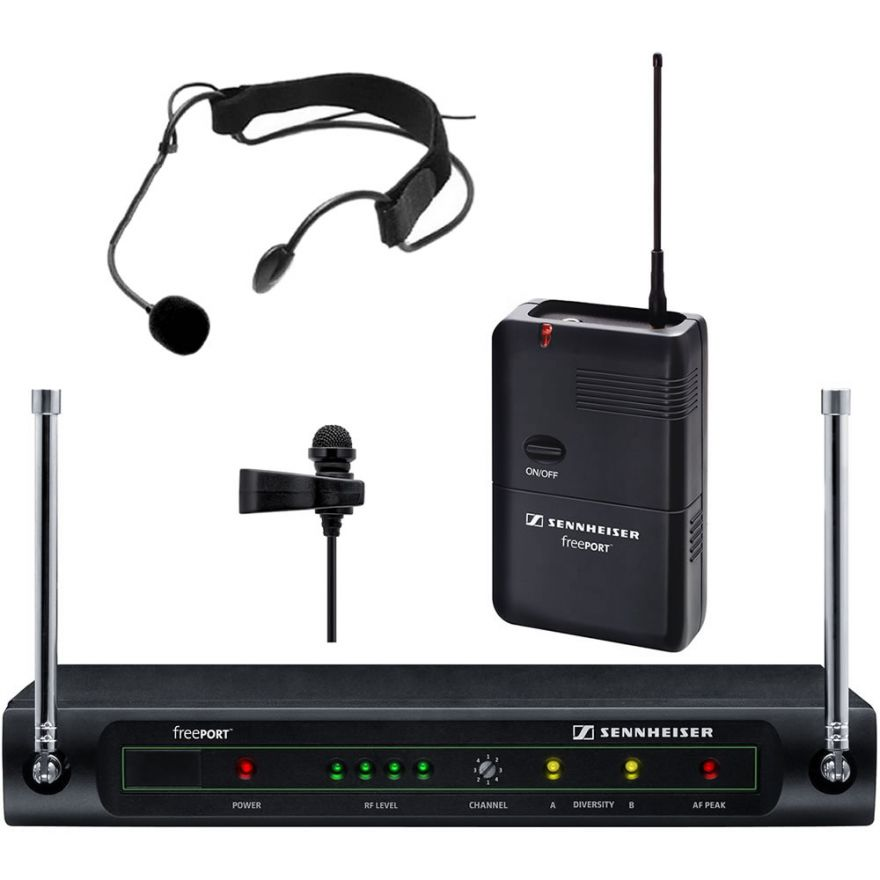 SENNHEISER FreePort FP12S Lavalier + Headset Set