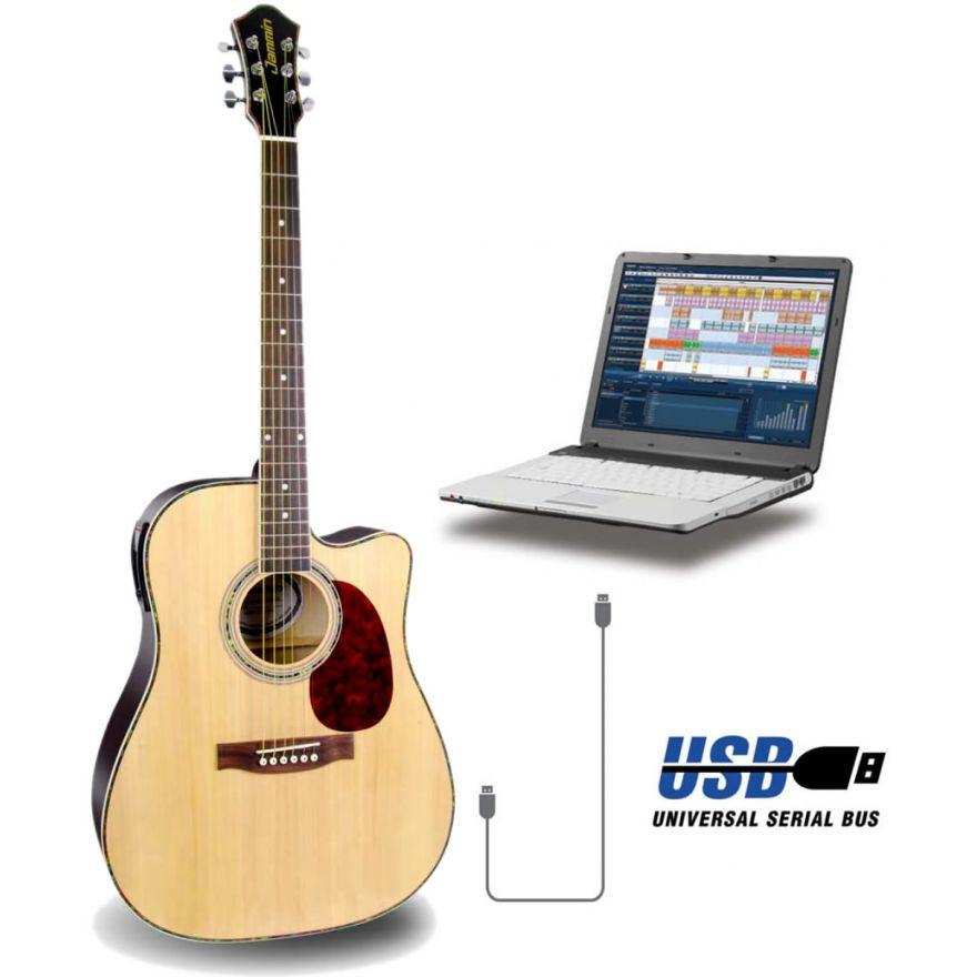 JAMMIN PRO ACOUSTIC 505 USB - CHITARRA ELETTROACUSTICA USB