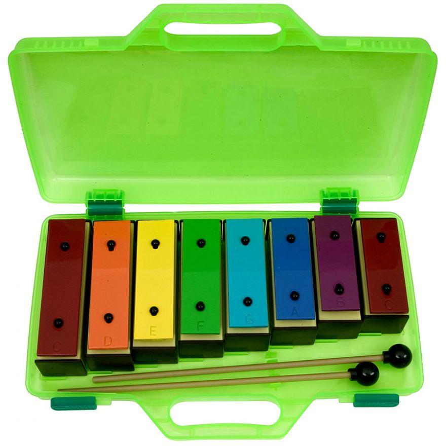 DE3050 Plastic Resonator Bells -SET DIATONICO 8 NOTE + VALIGETTA