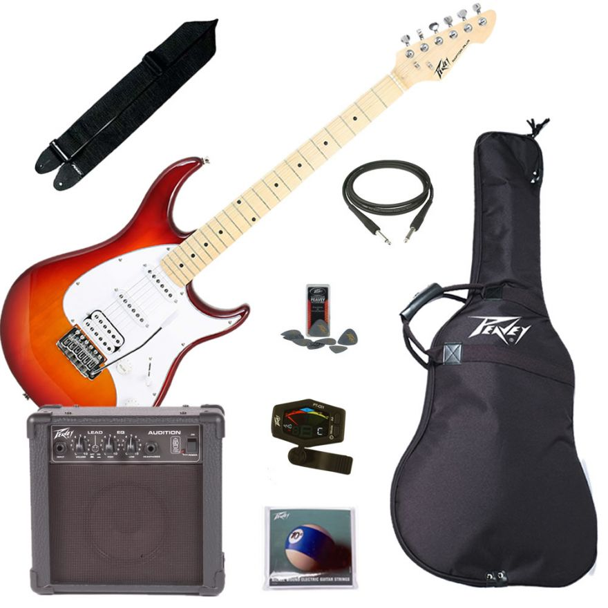 PEAVEY ELECTRIC GUITAR PACK PLUS CHERRY BURST - KIT CHITARRA ELETTRICA