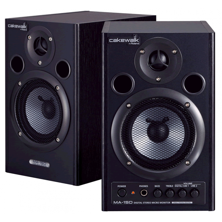 CAKEWALK MA15DBKCW - COPPIA MONITOR SPEAKER AMPLIFICATI 15 + 15W