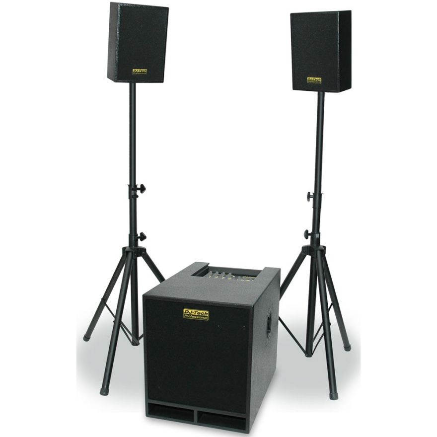 DJ TECH CUBE 305 - SISTEMA PA 490W (SUBWOOFER + 2 SATELLITI)