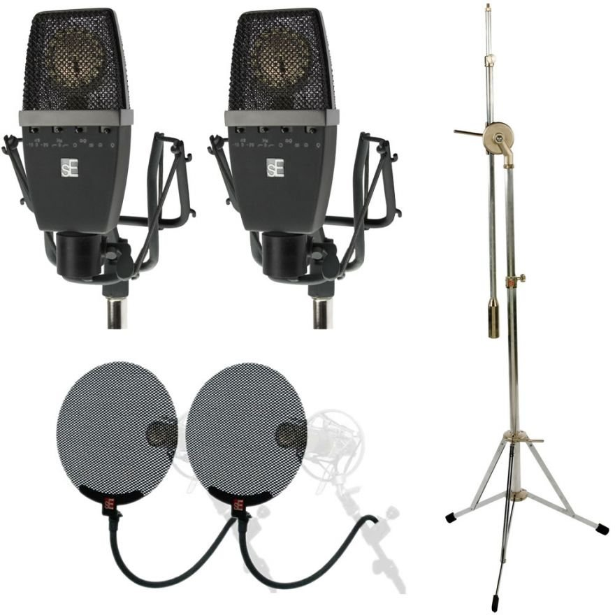 SE ELECTRONICS sE4400a Stereo Pair + sE Stand 1 + 2 Pop Filter
