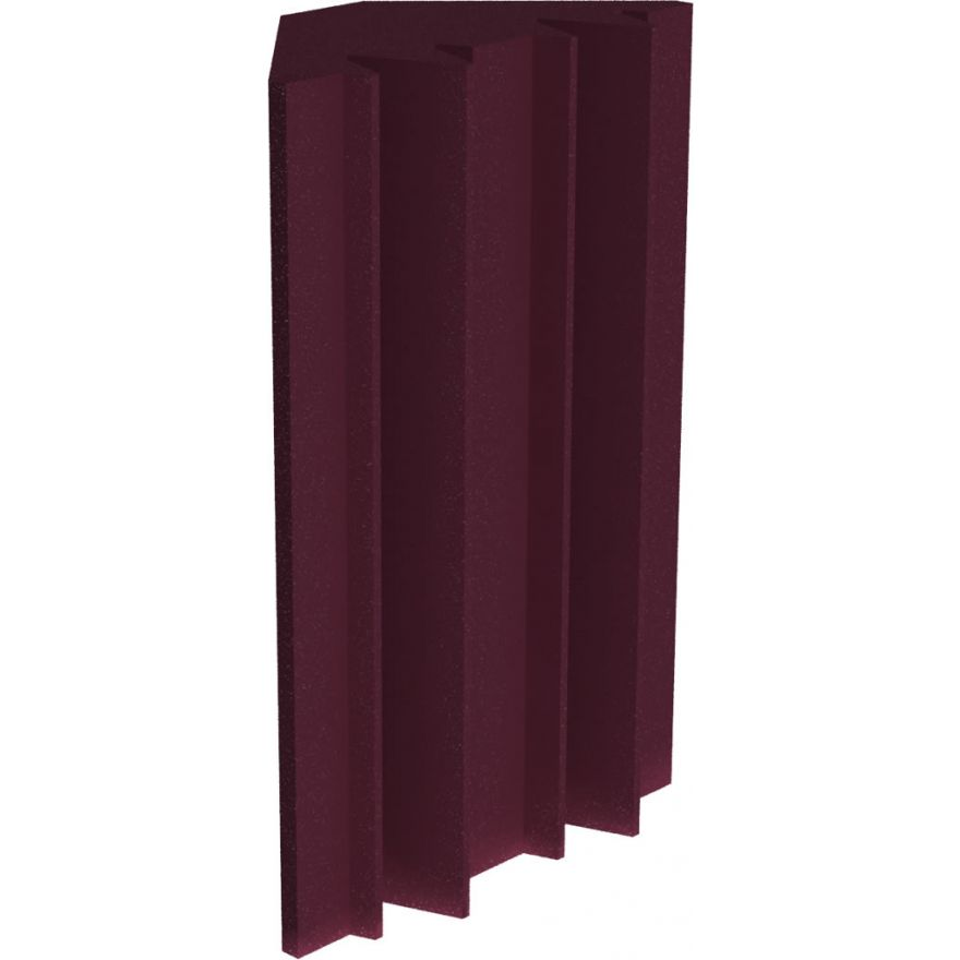 UNIVERSAL ACOUSTICS Mercury Bass Trap 600mm Burgundy 4pz