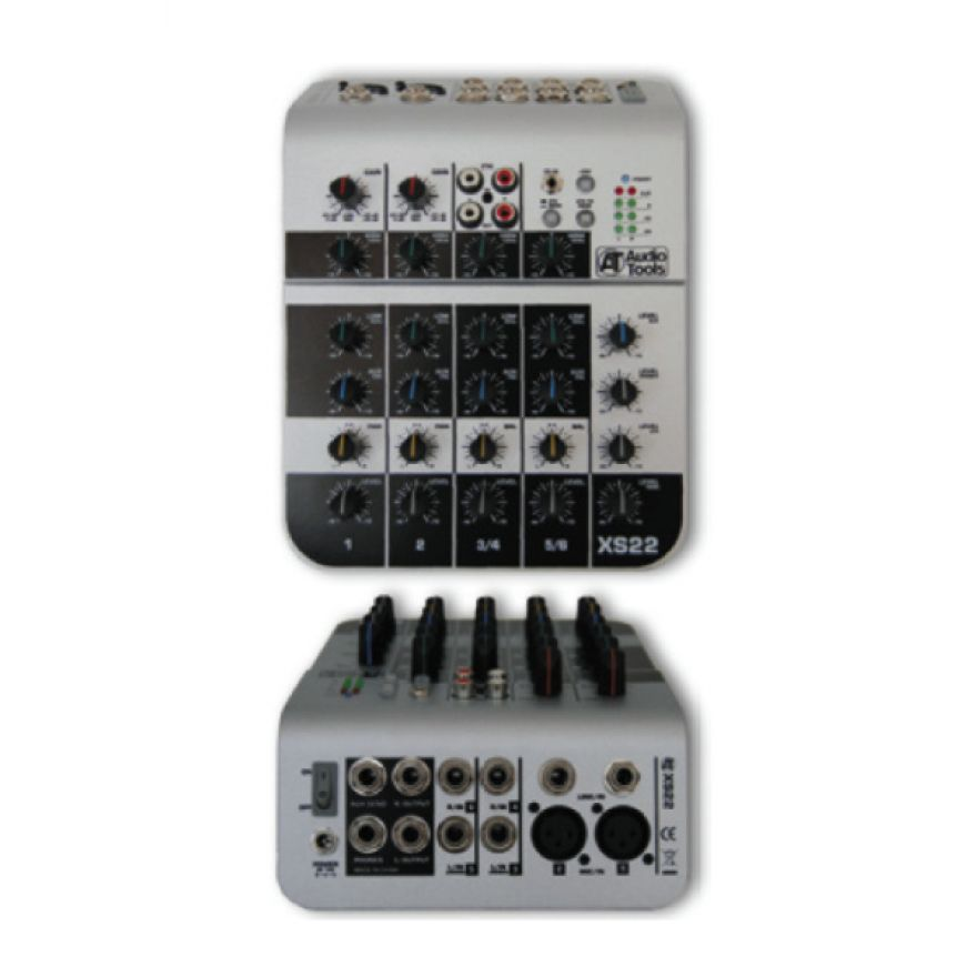 AUDIO TOOLS XS22 - MIXER 2 INGRESSI MONO + 2 STEREO