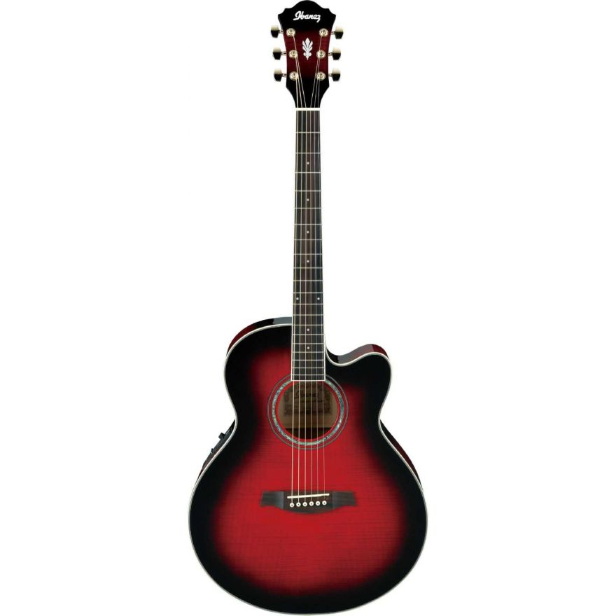 Ibanez AEL20E-TRS - transparent red sunburst