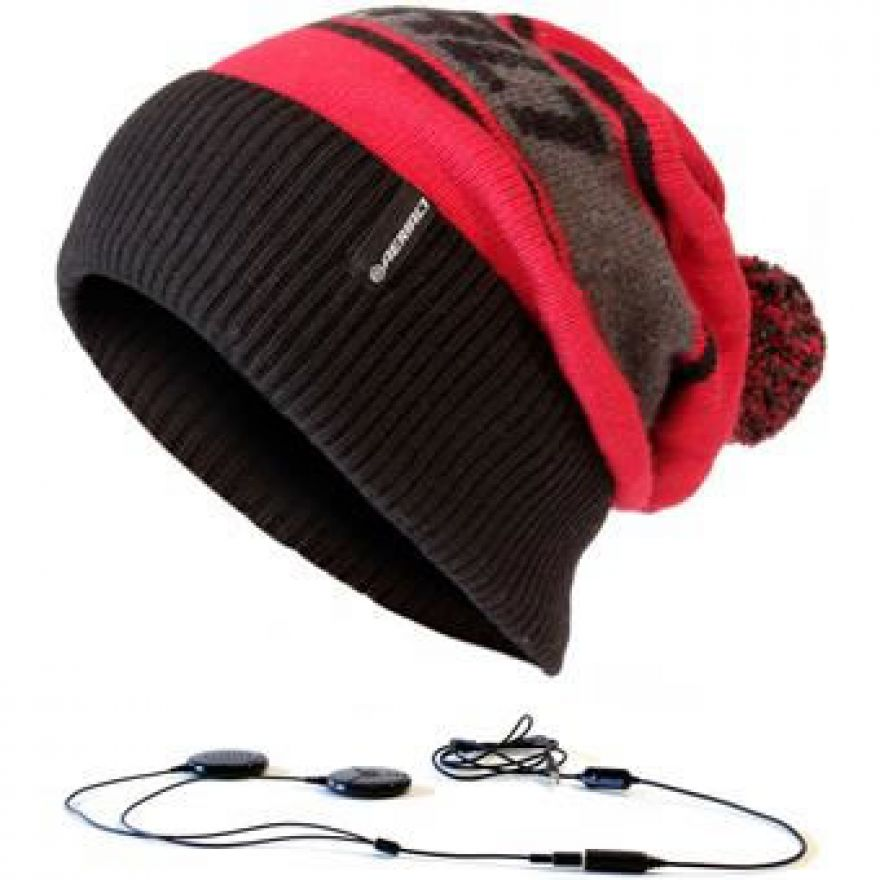 AERIAL 7 SOUND DISK BEANIE MARYHOFEN RED BLACK