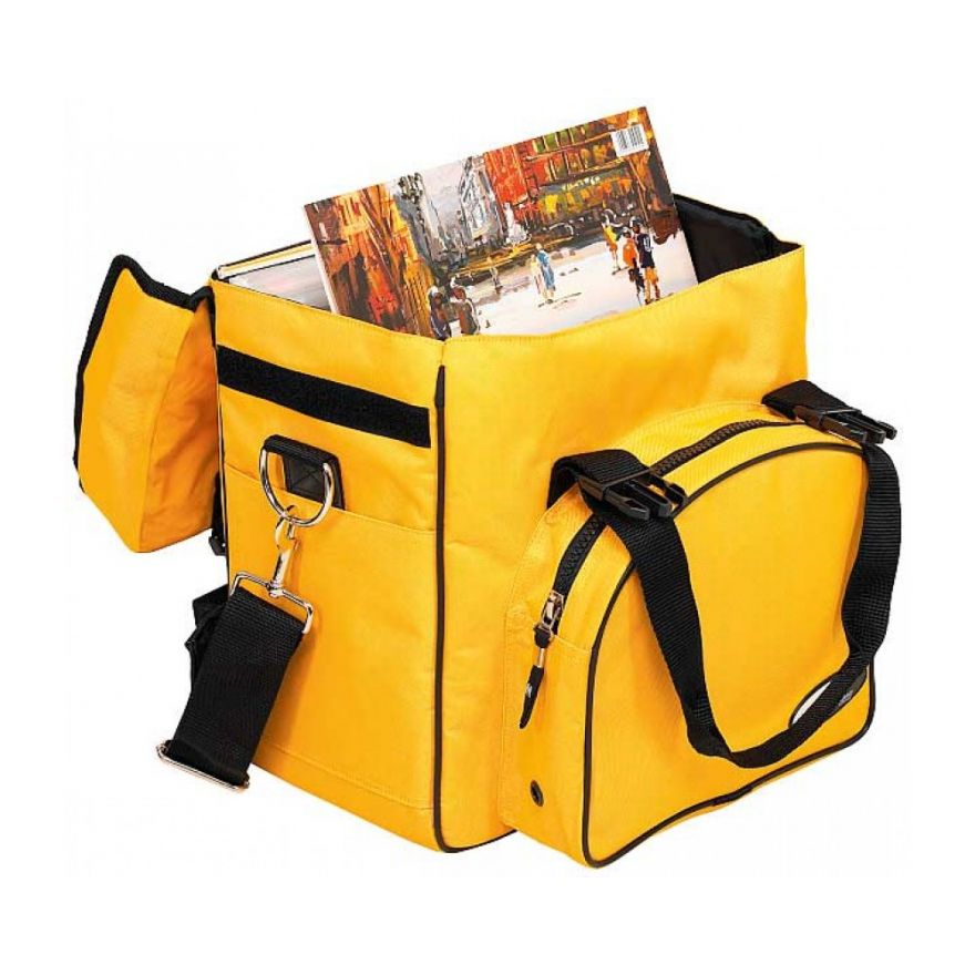 ROCKBAG RB27110YE DJ backpack bag per 20 vinili yellow