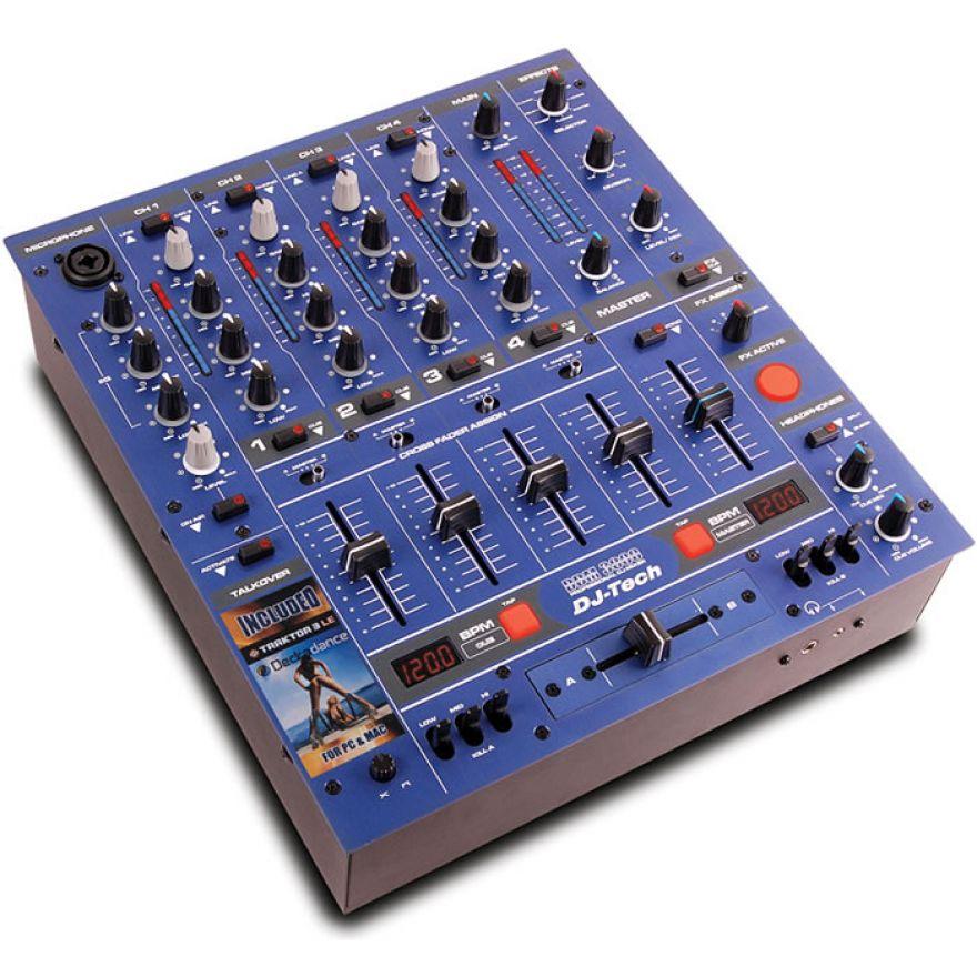 DJ TECH DDM3000 BLU MIXER DJ 4 CANALI