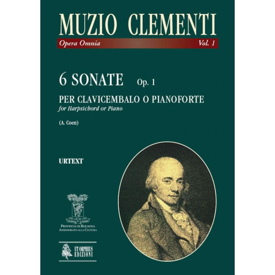 MUZIO CLEMENTI VOL.1 - 6 SONATE OP.1 PER CLAVICEMBALO O PIANOFORTE