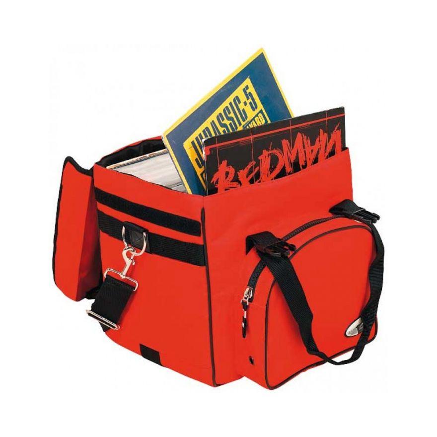 ROCKBAG RB27120R DJ backpack bag per 50 vinili red