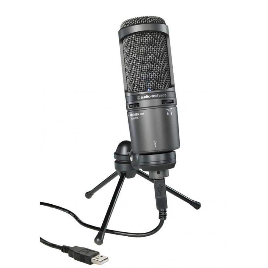 AUDIO TECHNICA AT2020 USB+ - MICROFONO DA STUDIO USB CON USCITA CUFFIA