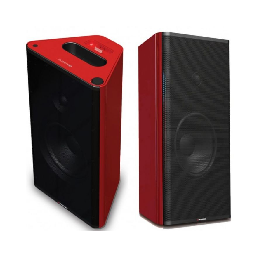 MONSTER CLARITY MONITORS DOCK RED