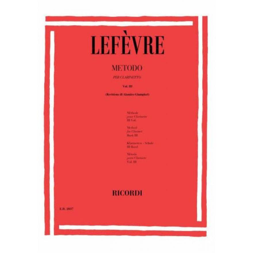 RICORDI Lefèvre, Jean Xavier - METODO Per CLARINETTO, Vol 3