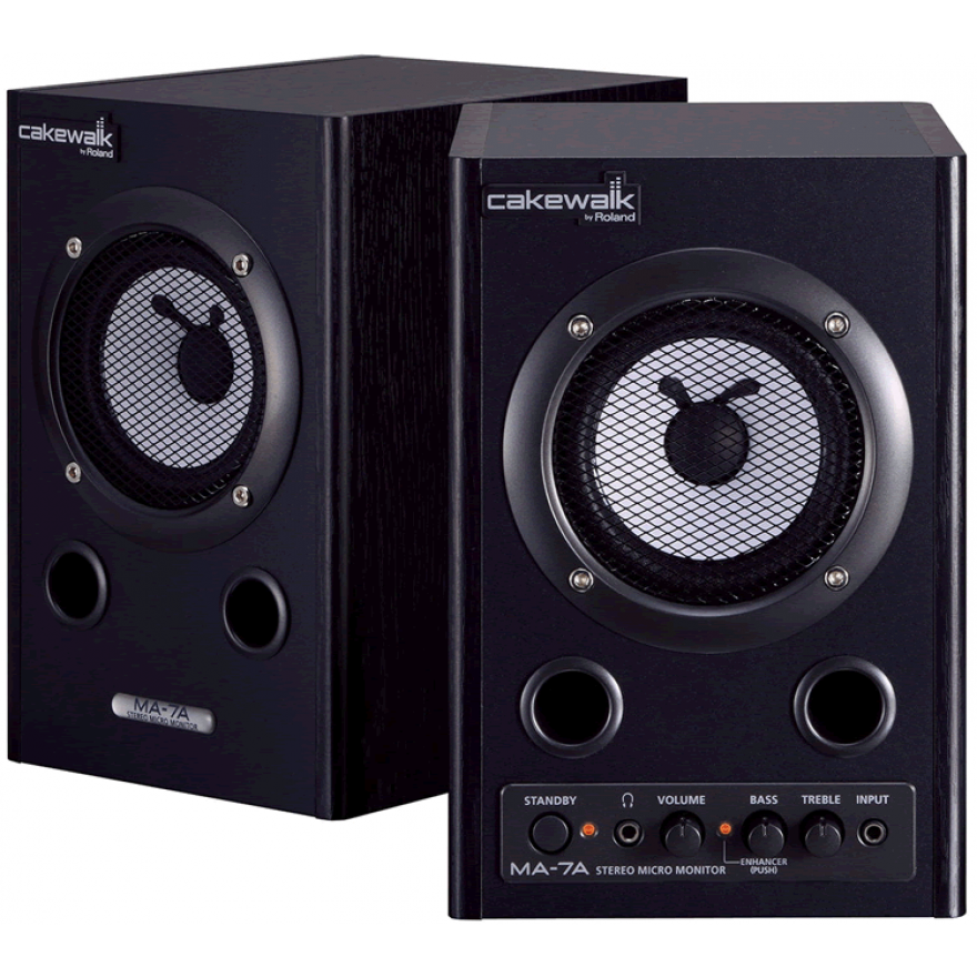 CAKEWALK MA7ABKCW (COPPIA) - MONITOR SPEAKER AMPLIFICATI 7W + 7W