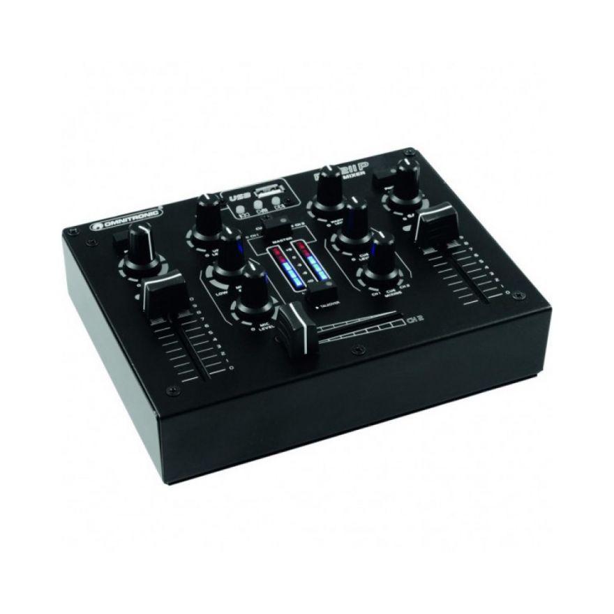 OMNITRONIC PM 211 P - MIXER 2 CANALI PER DJ CON PLAYER