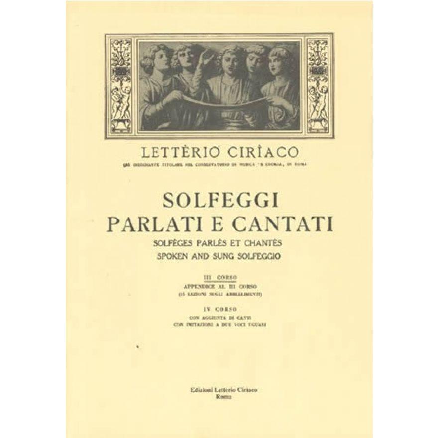 EDIM Ciriaco - SOLFEGGI PARLATI E CANTATI 3 Corso