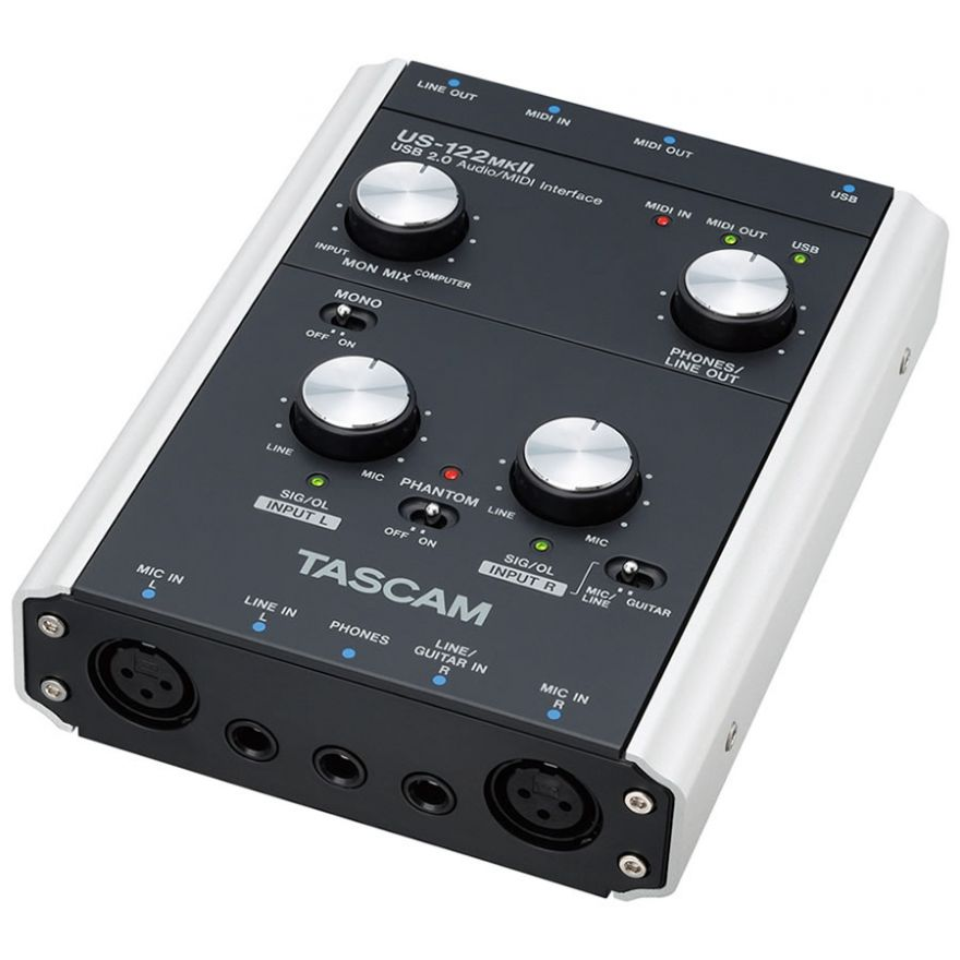 TASCAM US122 MKII - INTERFACCIA AUDIO MIDI USB 2.0 A 2 CANALI